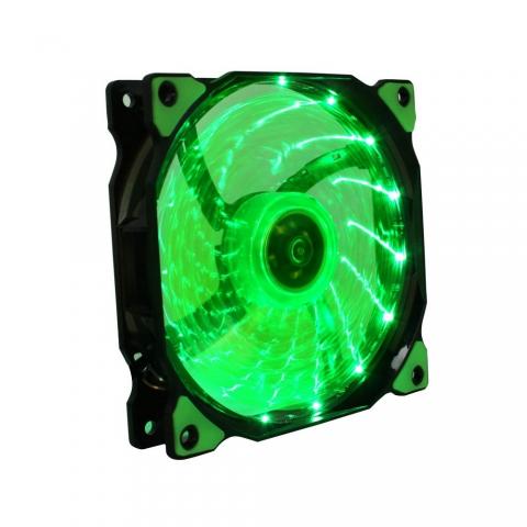15灯LED绿灯风扇