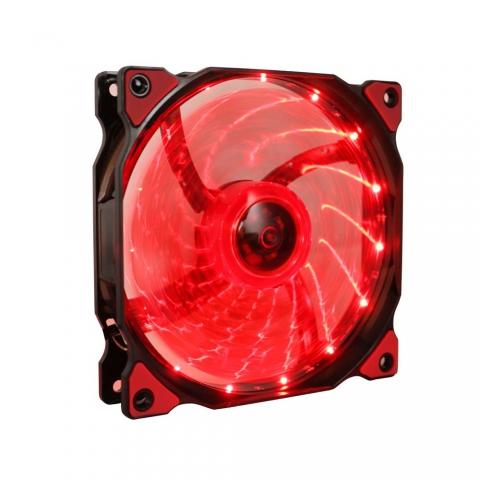 15灯LED红灯风扇
