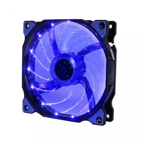 15灯LED蓝灯风扇